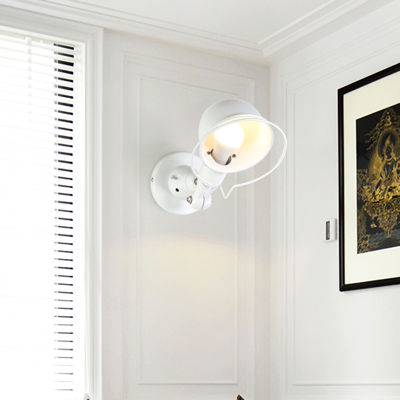 Nordic Classico regolabile industriale moderna Lungo altalena braccio nero lampada da parete sconce vintage E27 luci per Bagno camera da letto foyer - 4