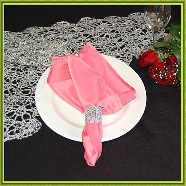 Marious Brand Solid Five Coolors Wedding Satin table napkin wedding satin fabric free shipping