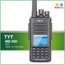 Новые Прибытие IP-67 Водонепроницаемый UHF 400-480 МГЦ DMR Walkie Talkie TYT MD-390 С Кабеля для Программирования и Программного Обеспечения