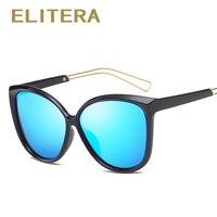ELITERA Luxury Cat Eye Sunglasses Women Classic Brand Designer Fashion Polarized Sun Glasses For Women Mirror