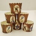 Alta calidad 50 unids/bolsa marrón peter conejos oso pato liner mollete casos para el Cumpleaños Del Banquete de boda de papel de Hornear torta de la taza
