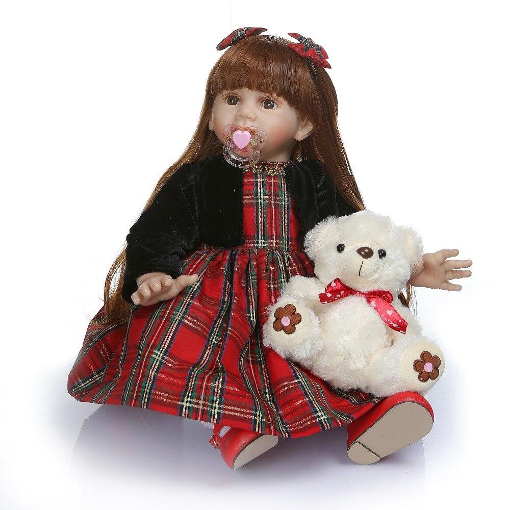 60 cm Silicone vinyle nouveau-né bébé poupée réaliste princesse poupée reborn bambin jouets bébé lol original enfants cadeau d'anniversaire présent