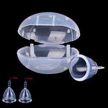 Transparent Women Reusable Medical Grade Silicone Menstrual Cup Feminine Hygiene