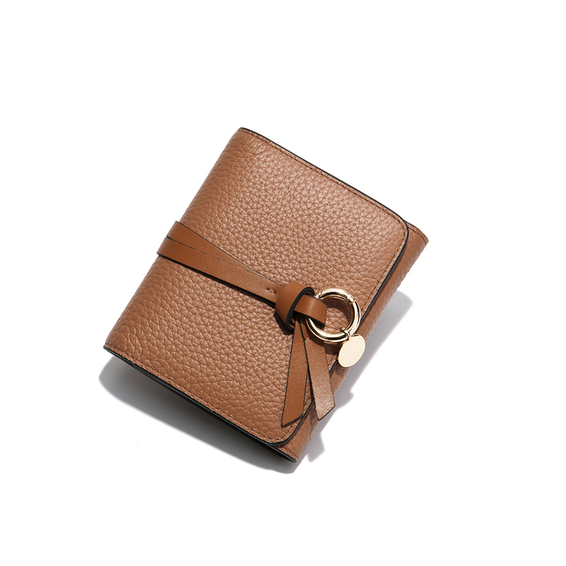 fde919421 Brand Famous Wallet Women Luxury Small Wallets Purses Short Ladies Genuine Leather  Wallet Brown Design Slim Wallets Cute Lolita-in Wallets from Luggage ...