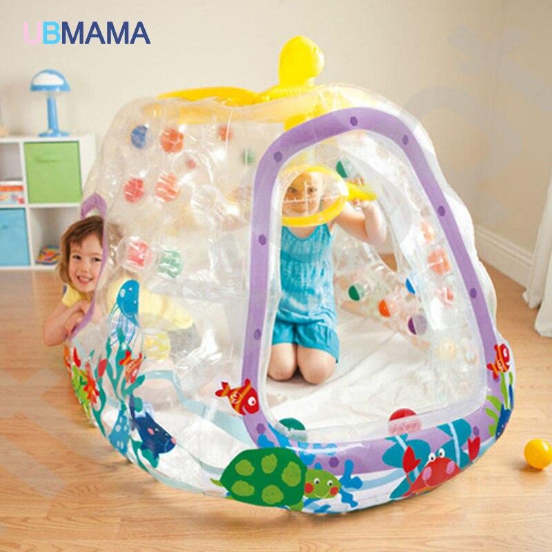 Enfants jouets gonflables Trampoline Type de ménage intérieur extérieur Trampoline Playgroud jouer à la piscine à balles 174*112*89 CM