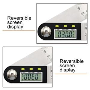 Image 3 - 200mm /300mm 스테인레스 스틸 디지털 미터 각도 경사계 각도 디지털 눈금자 전자 각도계 각도기 각도 파인더