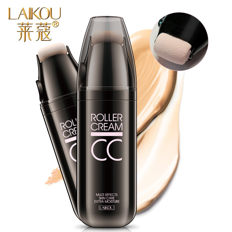LAIKOU Roller Design CC Cream Whitening Isolation Concealer Moisturizing Waterproof Face Foundation Beauty Make Up Air Cushion