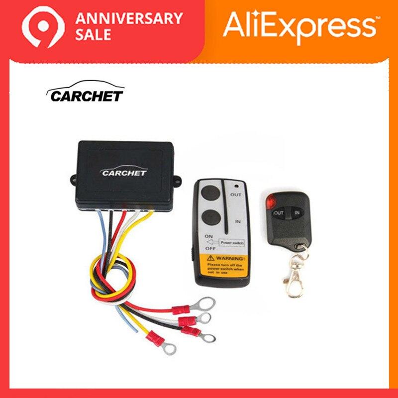 CARCHET 12 V-24 V 50ft Conjunto Interruptor de Controle Remoto Sem Fio Do Guincho E Inteligente Universal indicator light Para Jeep caminhão ATV PROMOTION2019