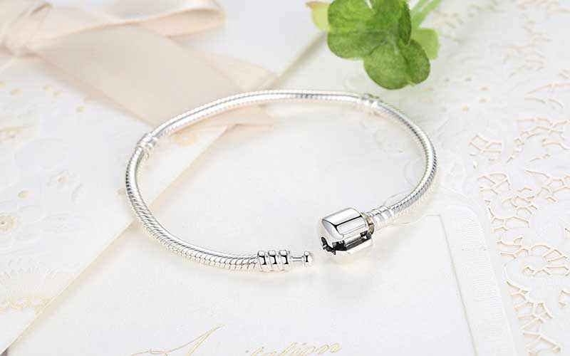 LMNZB 95% OFF BIG SALE Authentic 100% 925 Sterling Silver Snake Chain Bangle & Bracelet Luxury Jewelry 16-23CM Women Gift ZB005