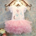2016 Colorful New Girls Children Clothes,Anna Elsa Dress For Girl,Baby Dress Elsa Custom Vestidos Summer Cospaly Party Dress