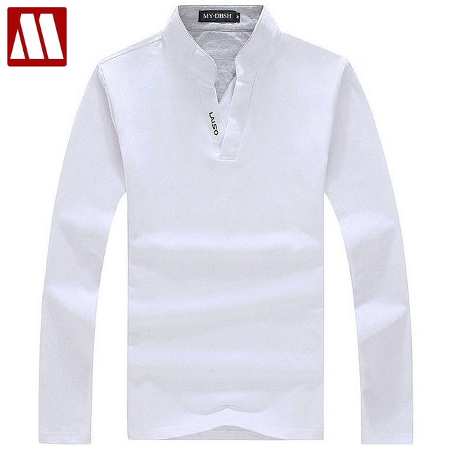 b04a2b781 Big size S-5XL 2019 Mens fashion boutique cotton leisure stand collar long  sleeve Polo
