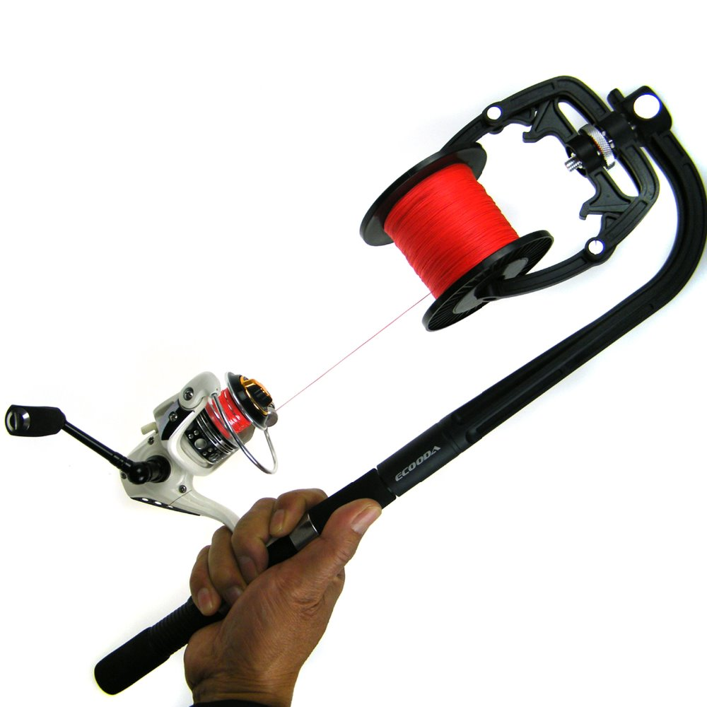 Winding system spooler winder machine fishing reel line for Fishing line winder machine