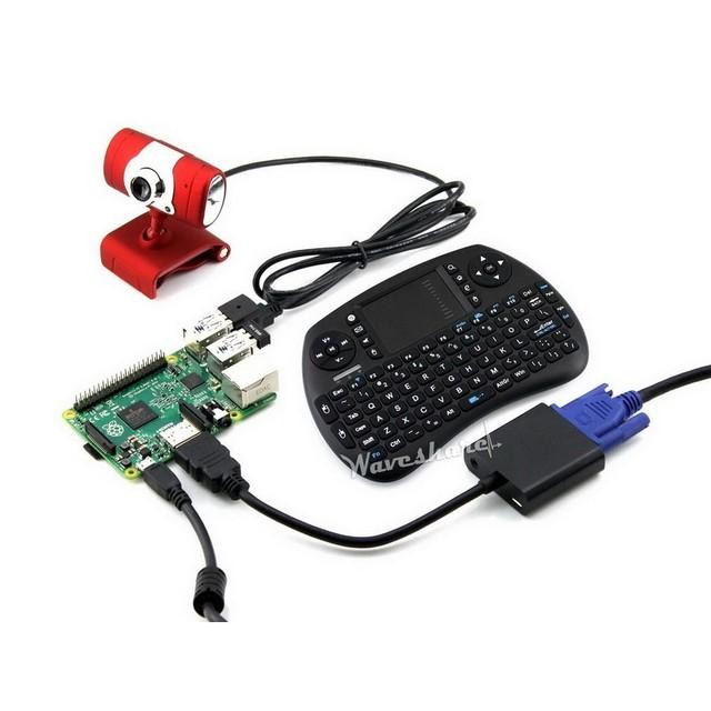 Nova Raspberry Pi 2B + USB WiFi + Camera + Teclado Sem Fio + fonte de Alimentação = RPi 2 B Pacote C