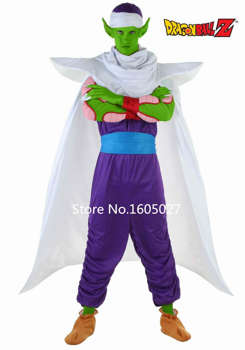 Japanese Anime Dragon Ball Piccolo Action Figure Uniform Cosplay Dragon Ball Piccolo Hallowmas Costume +Shoe Covers+Hat NEW
