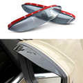 1Pair Car Styling Rearview Mirror Eyebrow Rainproof Flexible Blade Protector PVC Accessories For Skoda Octavia A7 2013 2014 2015