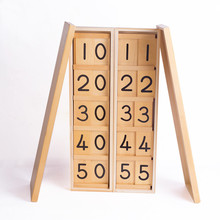 New  Brand of JJBLWZ Montessori (Schoo) International Teens and Tens Boards Wooden Toys Early Childhood Education Baby Gifts