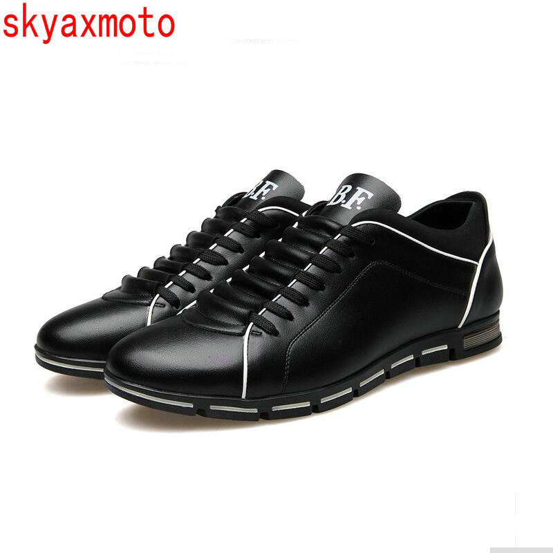 Skyaxmoto Luxury Brand Men Shoes England Trend Casual Leisure Shoes Leather Breathable For Male Footear Loafers Men's Flats men casual shoes in the autumn of 2017 new england men s trend of men s shoes casual shoes leather shoes breathable four male