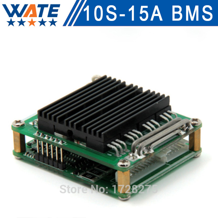 1pcs/lot 36v 10s bms 15A 36v bms 10S smart bms battery 36v li ion cell li-ion battery PCM protection board Free shipping protection circuit 4s 30a bms pcm pcb battery protection board for 14 8v li ion lithium battery cell pack sh04030029 lb4s30a