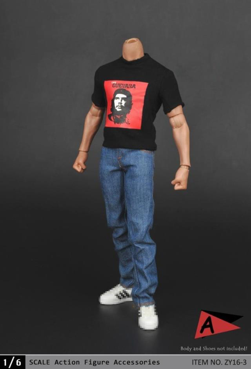 Two Styles 1/6 Scale Mens Printed T Shirt and Jeans Pants Models For 12 Inches Action Figures impression management and ego styles