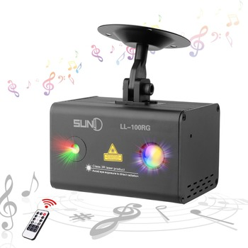 SUNY Mini Party Laser Lights RG Meteor Dots Projector RGB LED Wavy Galaxy Indoor Stage Light For Home Disco Bar (LL-100RG)