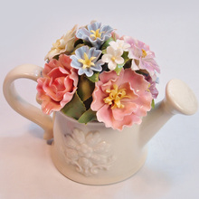 Ceramic flower pot music box for new year Christmas wedding and birthday gift married male honey free shipping