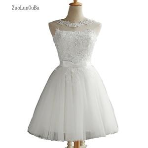 Женское кружевное платье без рукавов Zuolunouba, белое короткое приталенное платье со стразами и бантом, для рождественской вечеринки, лето 2018