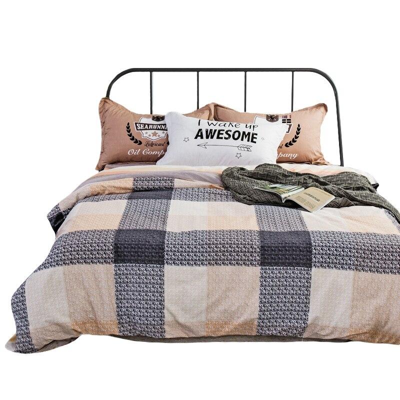 arnigu 100 cotton 4pcs twin queen full double size colour plaid bedding set kids boys