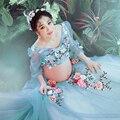 2017 Maternity Photography Props Romantic Elegant Gown lace Fairy Dress Pregnancy Photo Shoot Shower for pregnant women M733