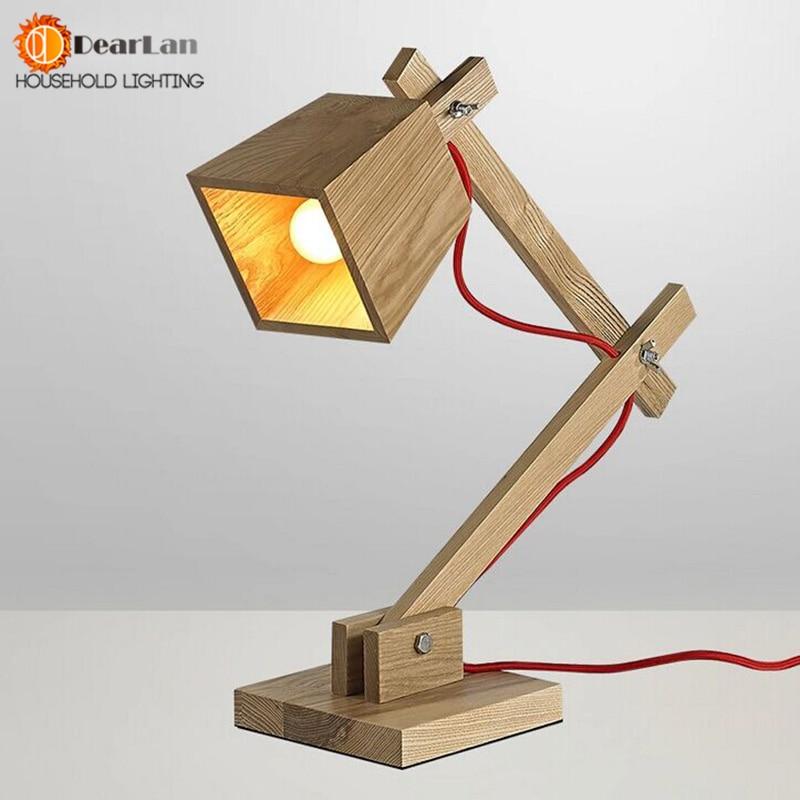 Здесь можно купить   Modern Wood Read Table Lamp Vintage Solid Wood Modern Desk  Lamp American Study Light Free Shipping(TG-50) Строительство и Недвижимость