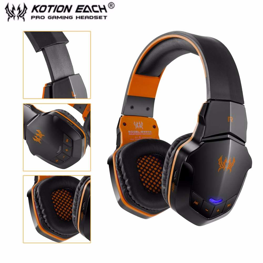 100% Original EACH B3505 Wireless Bluetooth Stereo Gaming Headphones Headset With Volume Control Microphone HiFi Music Headsets