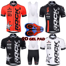 2aff25e03 2018 Pro Team Men s Rock Racing Bike Wear Summer Breathable Short Sleeve  Cycling Jersey Kit Ropa Ciclismo Cycling Bib Shorts Set