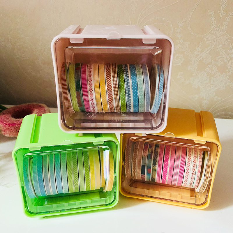 15 Rolls / set Boxed Simple Pattern Slim Washi Tape Set , Slim Masking Tape Set for DIY