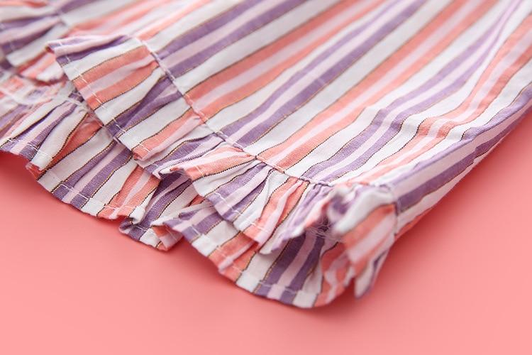 European Style Woman Pajama Pant For Summer Casual Cotton Sleep Pants Shorts Striped Pijama Pants Ladies Pajama Bottoms A42