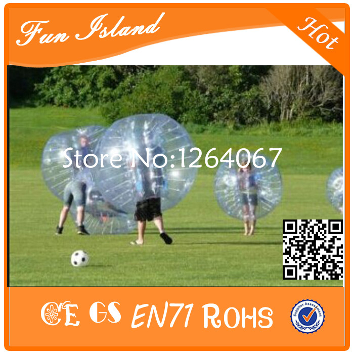 Jouets gonflables colorés de boule de Zorb de Football de bulle de 1.2 m TPU, Football gonflable de bulle de jeu de sport, boule bouclée folle - 4
