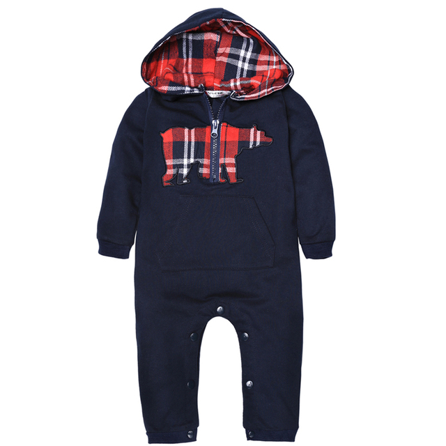 New Jumpsuits hoody for Boy Baby Clothing Cute Kids Baby Boy Toddler Hooded Long Sleeve Animal Print Rompers Kids Suit