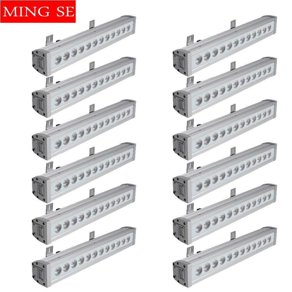 Commercial Lighting 12pcs/lots 12x12w Rgbw 4in1 Ip65 Waterproof Led Bar Wall Washer Led Outdoor Flood Light Party Wedding Shows Stage Light Big Clearance Sale Stage Lighting Effect