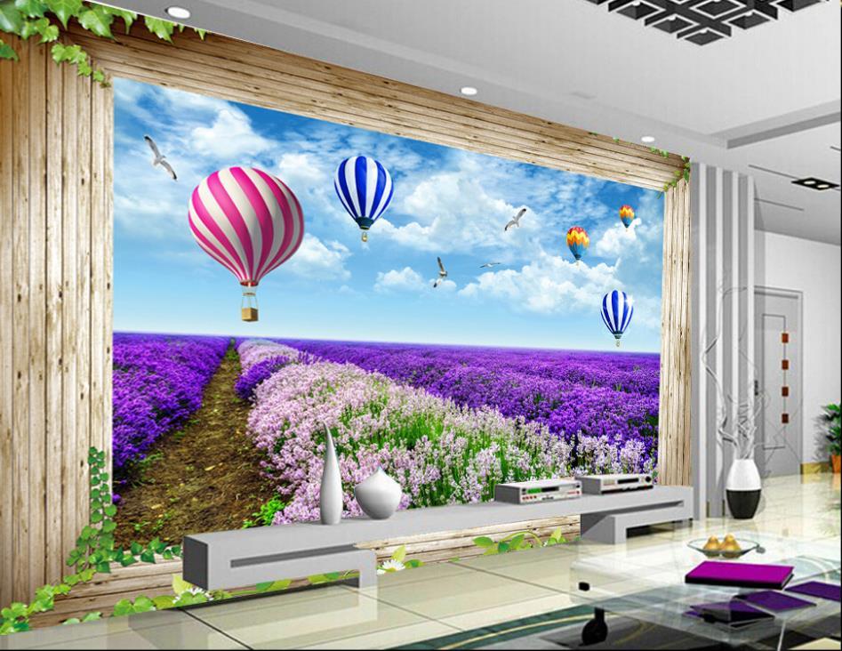 Sfondi 3d natura paesaggio palloncino finestra carta da for Carta da parati 3 d