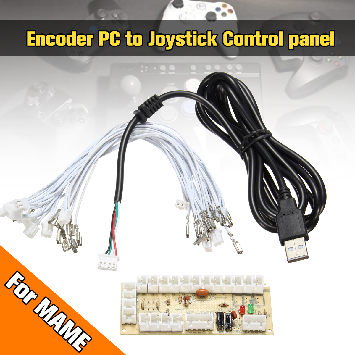 DIY Arcade Rocker Circuit Board Zero Delay Arcade USB Encoder PC to Joystick Control Panel For MAME 2pin + Push Buttons safety and often converter 4 buttons to remote controle arcade transform screen to street fighter for tekken display