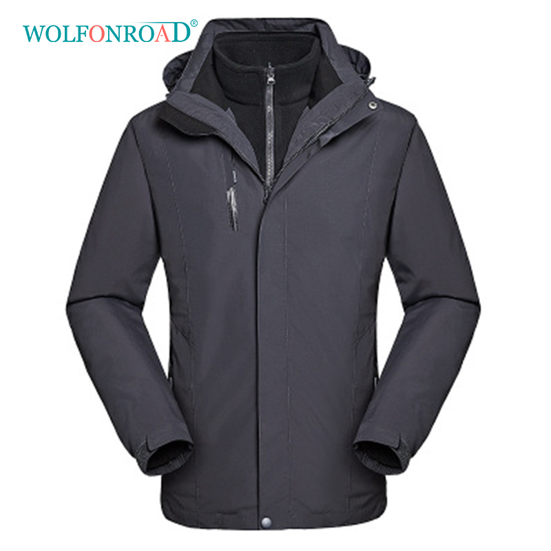 wolfonroad women 2 piece jackets waterproof outdoor sport thermal jacket coat winter hiking camping windbreaker mountain jackets WOLFONROAD Men 2 Piece Jackets Waterproof Outdoor Sport Thermal Jacket Coat Winter Hiking Camping Windbreaker Mountain Jackets