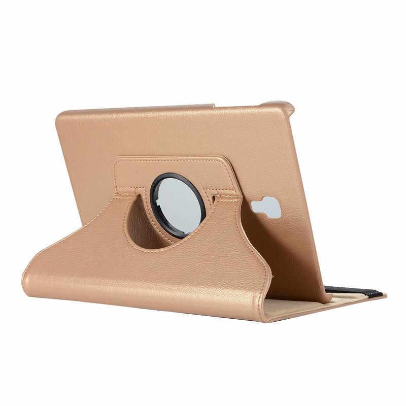 2018 Новый вращающийся на 360 умный чехол для samsung Galaxy Tab A 10,5 T590 T595 T597 откидной кожаный чехол-подставка SM-T590 SM-T595 + пленка + ручка