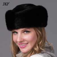 winter women whole Real natural mink fur hat 2018 luxury fashion women fur cap good quality