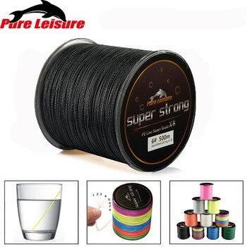 PureLeisure 500 м линии multifilament 500 м 8 плетеная леска 4 стоит 500 м 8 стоит fly лески tresse de рыбалка 1 #-12 #