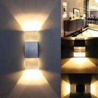 Moderne Aluminium Quadratischen LED Wandleuchte Veranda Spot Lampe Beleuchtung Bar Kaffee licht Wohnkultur küche Restaurant Lampe