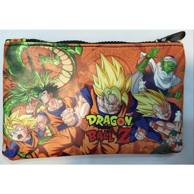 Dragon Ball Z Anime Leather Stationery Zipper Purse Short Wallets