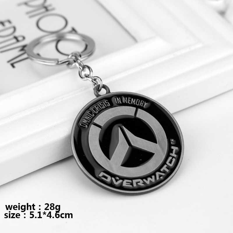 Горячие игра Overwatch Брелоки держатель мода металлический сплав ВЛ Брелоки ювелирные изделия подарок для человека мальчик