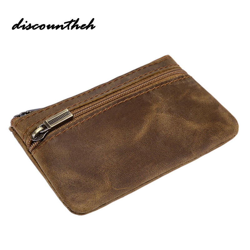 High Quality Leather Coin Purse Header Layer Cowhide Key Wallet Artificial Leather Money Card Holder Change Wallet Mini Key Bag j m d hot sale high quality classic brown real leather mini wallet purse key case men s hand bag cartera freeshipping 8023b