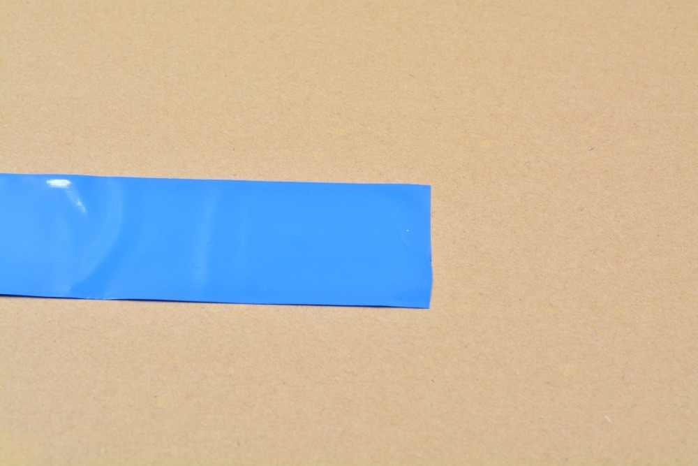 Ширина сглаживания 53 мм прозрачный черный синий белый много цветов ПВХ термоусадочная трубка картридж батарея корочка 1 шт