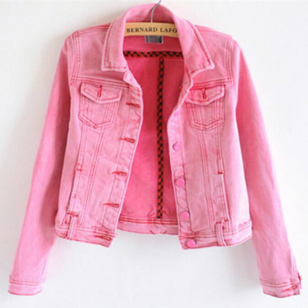 Free shipping 2015 Women Denim Jacket Jeans Coats Casual Jackets ...