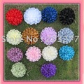 Wholesale - 24pcs/lot 14colors for your choose 4''Satin flowers Free Shipping