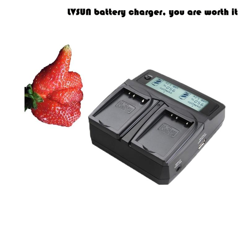 LVSUN Universal DC & Car Camera Battery Charger for Sony a5100 NEX5T for NP-FW50 battery NP FW50 np f960 f970 6600mah battery for np f930 f950 f330 f550 f570 f750 f770 sony camera